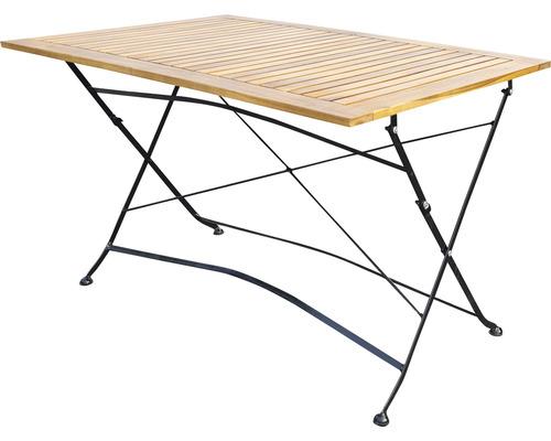 Table de jardin pliante Garden Place bois 120 x 80 x 74 cm acacia marron noir