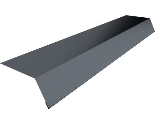 PRECIT Traufkappe/Rinneneinhang für Trapezblech T18 anthracite grey RAL 7016 2000 x 75 x 125 x 0,5 mm