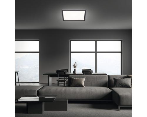 Panneau LED métal/plastique 22W3000 lm4000 K blanc neutre Backlight hxLxl 29x420x420 mm Slim carré noir