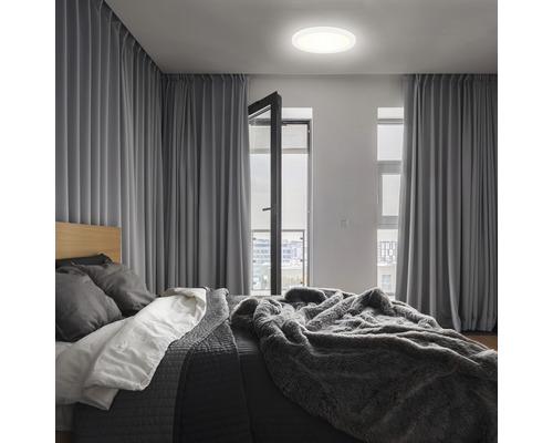 Panneau LED métal/plastique 12W1400 lm4000 K blanc neutre Backlight hxØ 28x190 mm Slim rond blanc