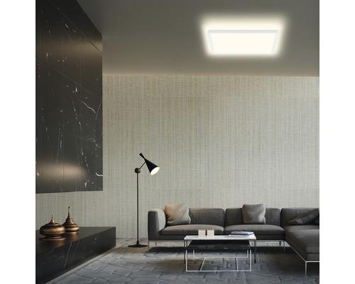 Panneau LED métal/plastique 22W3000 lm4000 K blanc neutre Backlight hxLxl 29x420x420 mm Slim carré blanc