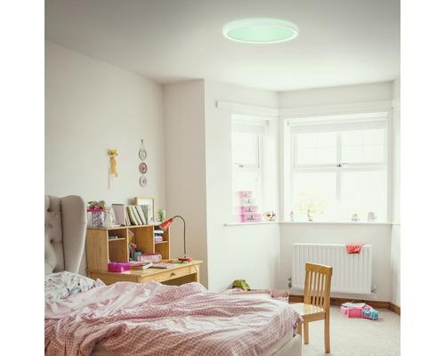 Panneau LED métal/plastique 15W1850 lm4000 K blanc neutre Backlight hxØ 28x293 mm Slim rond blanc avec télécommande