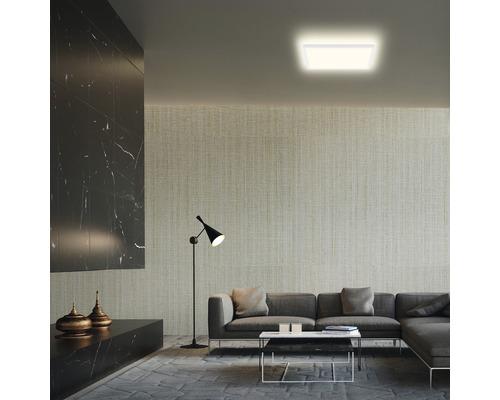 Panneau LED métal/plastique 18W2400 lm4000 K blanc neutre Backlight hxLxl 28x293x293 mm Slim carré blanc