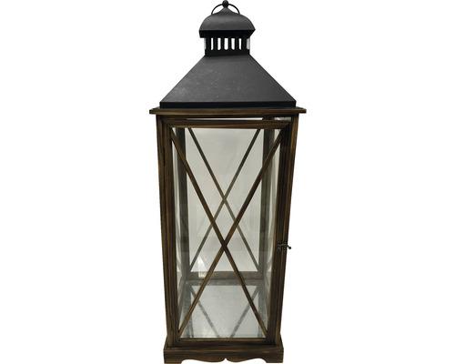 Lanterne Lafiora bois 32 x 32 x 90 cm marron
