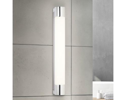 Lampe de salle de bain LED avec prise de courant IP44 9W 850 Im 4000 K blanc neutre Horace chrome/blanc L 600 mm