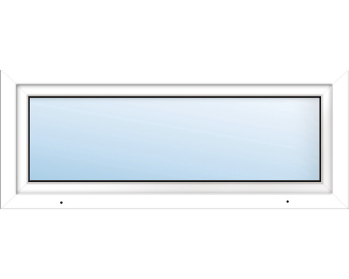 Fenêtre de cave ARON Basic plastique blanc 600x400 mm tirant gauche