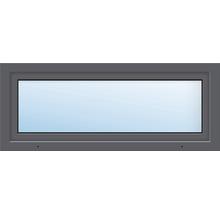 Fenêtre de cave ARON Basic plastique titane 1000x400 mm tirant gauche-thumb-0