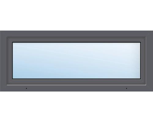 Fenêtre de cave ARON Basic plastique titane 1000x400 mm tirant gauche