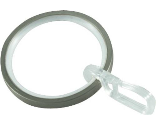 Anneau pour rideau Windsor aspect acier inoxydable Ø 33mm, lot de 10