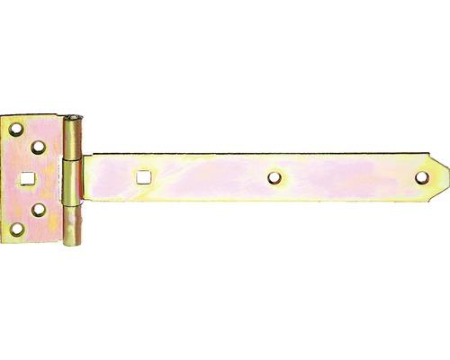 Kreuzgehänge Typ 124 leicht, 250 x 33 mm, Galv. gelb verzinkt