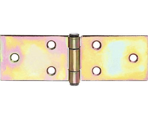 Bande de table large, 32x101mm, jaune en acier galvanisé