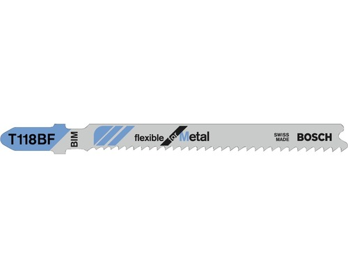 Lame de scie sauteuse Bosch T 118 BF lot de 3