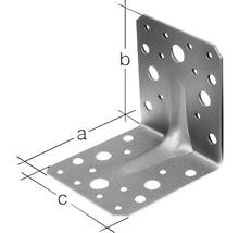 Cornière d''angle à charge lourde avec une nervure 70x70x55mm, galvanisée sendzimir, 1 unité-thumb-1