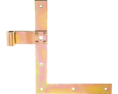 Courroie de volet perpendiculaire Type 25 en bas, 250x200x13mm, en acier galvanisé jaune