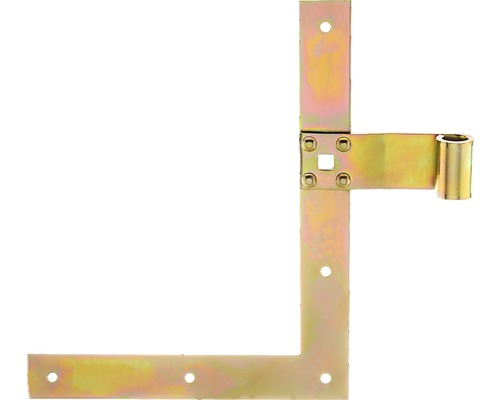 Courroie de volet perpendiculaire Type 25 en haut, 250x200x13mm, en acier galvanisé jaune