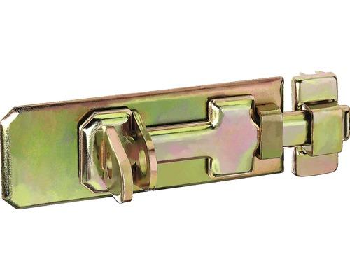 Verrou de sécurité avec une poignée plate et une boucle de 140x55mm, galvanisé jaune