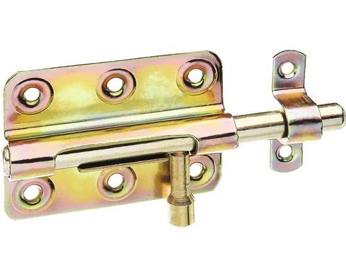Boulon-verrou avec une boucle fixée, 80x56mm, galvanisé jaune