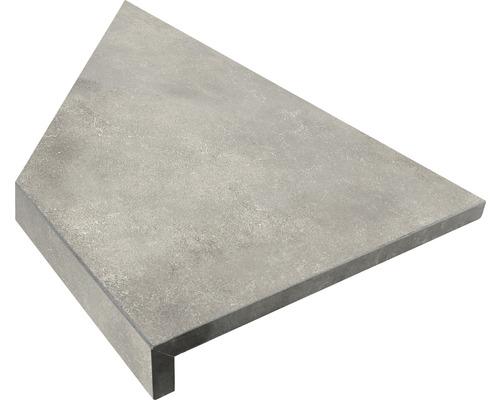 Bordure de piscine margelle angle intérieur 90° gris béton 60 x 30 x 5 cm