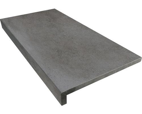 Bordure de piscine margelle anthracite béton 60 x 30 x 5 cm