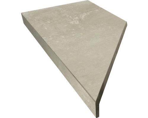Bordure de piscine margelle caniveau beige béton 60 x 14,5 x 3 cm