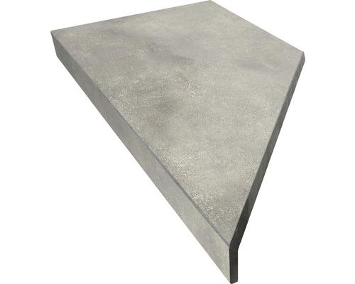 Bordure de piscine margelle angle extérieur 90° gris béton 60 x 30 x 5 cm