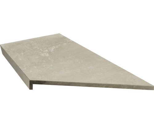 Bordure de piscine margelle angle intérieur 90° beige béton 60 x 30 x 5 cm