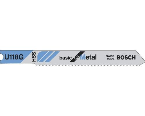 Lame de scie sauteuse Bosch U 118 G, lot de 3