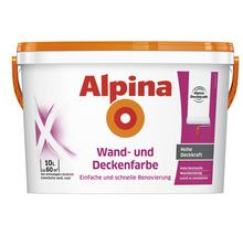 Peinture pour murs et plafonds Alpina blanche 10l-thumb-0