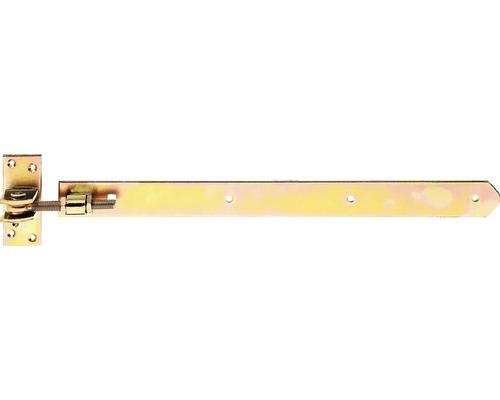 Ladenband verstellbar, gerade Form, 470 x 40 mm, Galv. gelb verzinkt