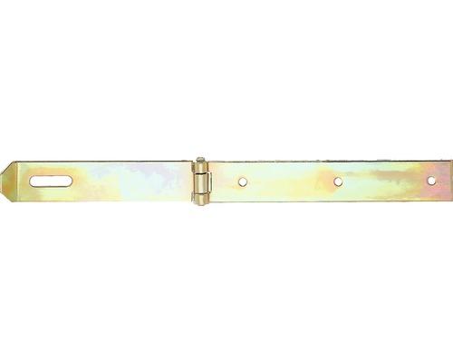 Sécurité, 200x35mm, jaune en acier galvanisé