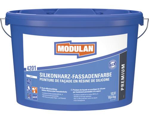 Peinture pour façade en résine de silicone MODULAN 4201 blanc 12,5l