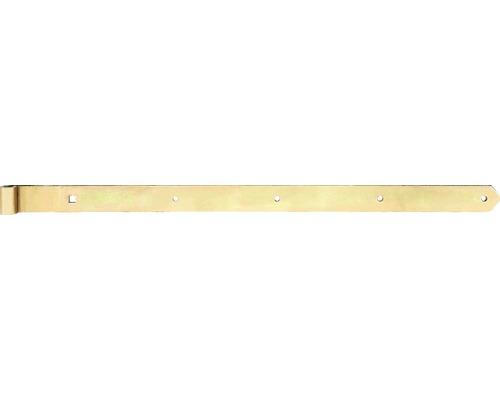 Paumelle de volet Type 8 de forme droite, légère, 800x16x45mm, galvanisée jaune