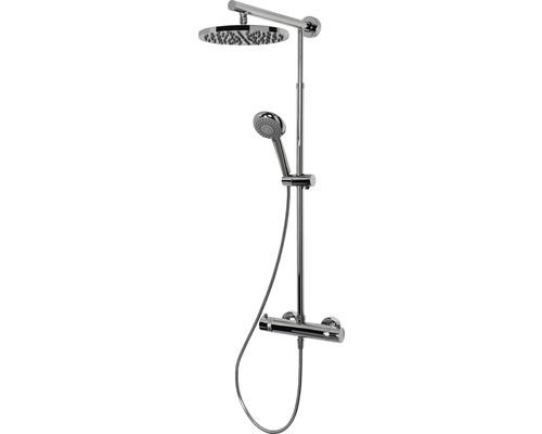 Duschsystem Schulte Classic DuschMaster Rain D9640 02 rund chrom mit Thermostat