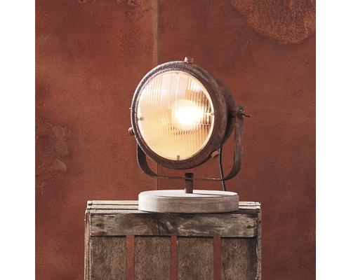Lampe de table 1ampoule h 310mm Carmen couleur rouille/noir