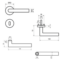Garniture à rosette BB Moskau II acier inoxydable-thumb-2