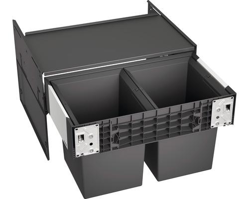 Poubelle encastrable BLANCO SELECT II Compact 60/2 volume 2x 17 l 526207