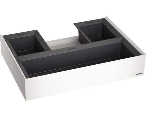 Tiroir à compartiments orga BLANCO SELECT II dans les meubles bas de 60 cm 526212