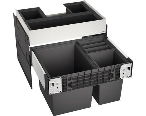 Poubelle encastrable BLANCO SELECT II 60/3 Orga contenance 1x 30 l et 2x 8 l 526210