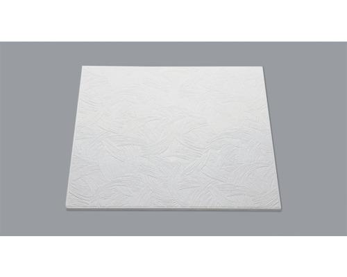 Dalle de plafond aspect crépi T133 blanc 50x50 cm paquet de 8