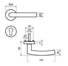 Poignée sur rosace Kingston II acier inoxydable/satiné BB pour portes intérieures-thumb-2