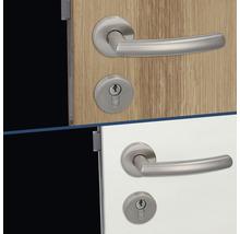 Poignée sur rosace Kingston II acier inoxydable/satiné BB pour portes intérieures-thumb-3