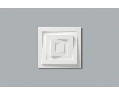 Rosace 3D B 22 blanche 30x30 cm