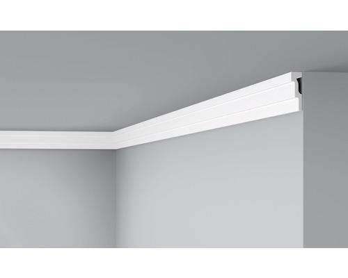 Moulure de plafond D 15 blanc 6x200cm