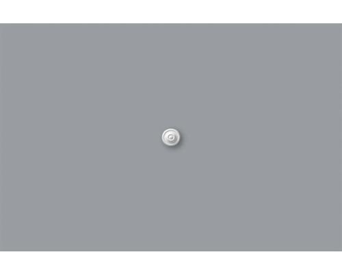 Rosace M60 blanc 2pièces