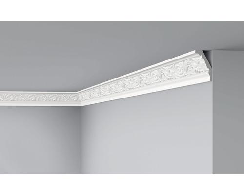 Moulure de plafond E25 blanc 2 m