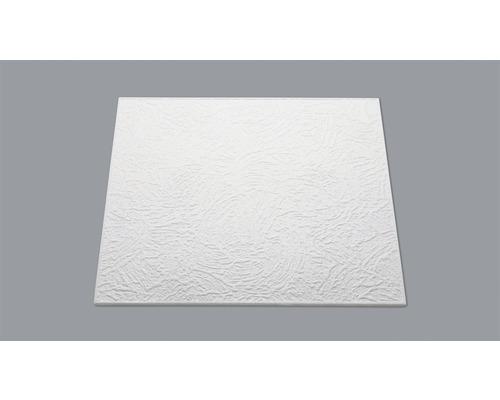 Dalle de plafond aspect crépi T90 blanc 50 x 50 cm pack de 8