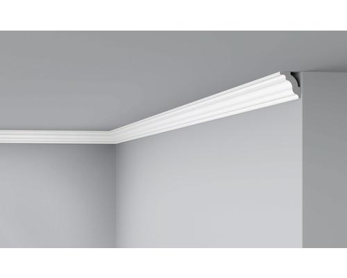 Moulure de plafond D4 blanc 2 m lot de 2