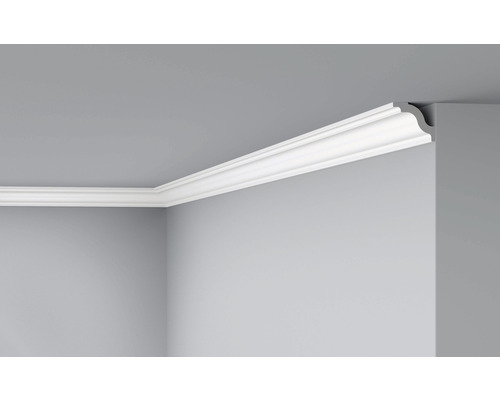 Moulure de plafond D7 blanc 2 m lot de 2