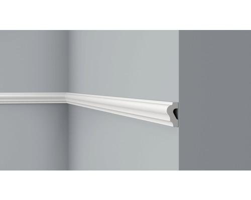 Moulure D6 blanc 2 m, lot de 2