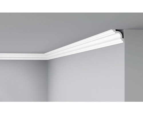 Moulure de plafond D8 blanc 2 m pack de 2